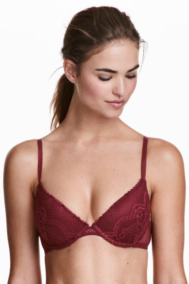 Dantel Push-up Sütyen - Bordo -  | H&M TR