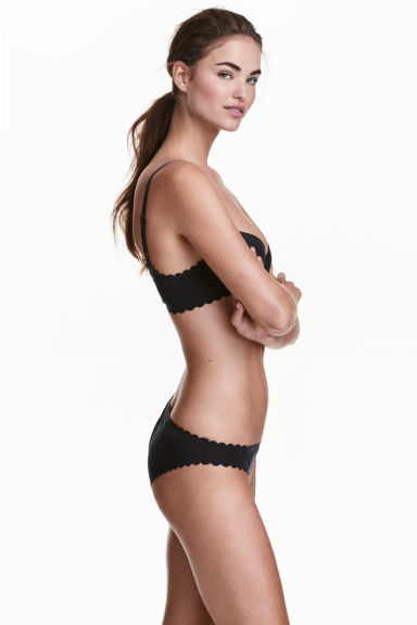 Microfibre bikini briefs - Black - Ladies | H&M CN