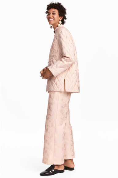 Jacquard-weave trousers - Light pink -  | H&M CN