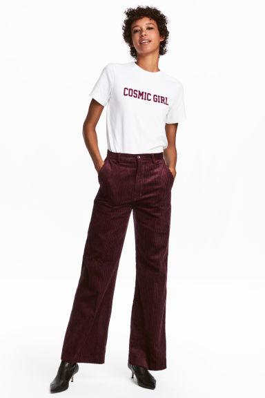 gamma completa di articoli prodotti di qualità presa all'ingrosso Pantaloni ampi velluto a coste