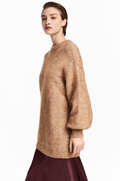 Knitted jumper - Camel -  | H&M