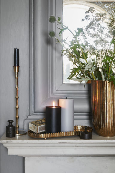 Tall metal vase - Gold-coloured - Home All | H&M IE