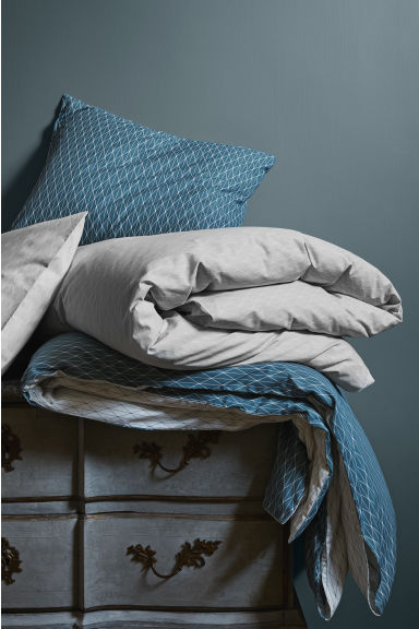 Patterned duvet cover set - Turquoise - Home All | H&M CN