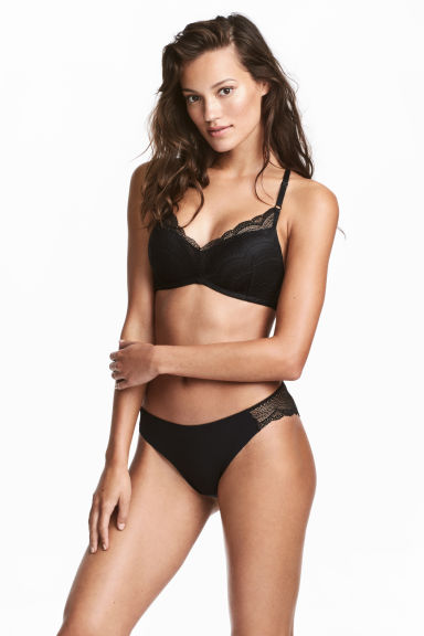 Microfibre Brazilian briefs - Black -  | H&M GB