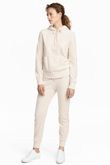 Velour joggers - Natural white - Ladies | H&M CN