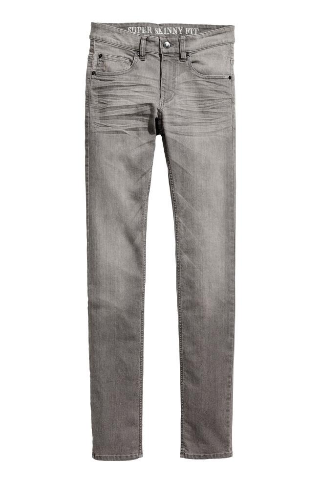 f519b9b1f4 Super Skinny Jeans - Gris - HOMBRE