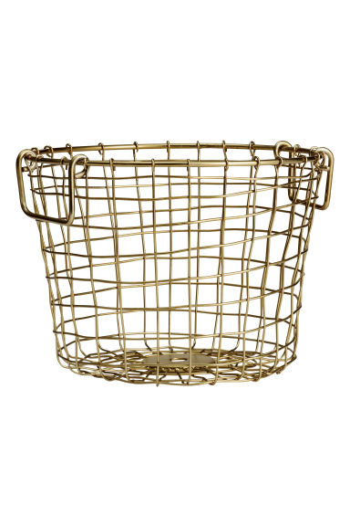 Small wire basket - Gold - Home All | H&M IE