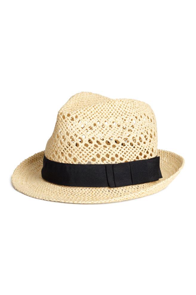 1d844a58240 Slaměný klobouk - Přírodní - ŽENY
