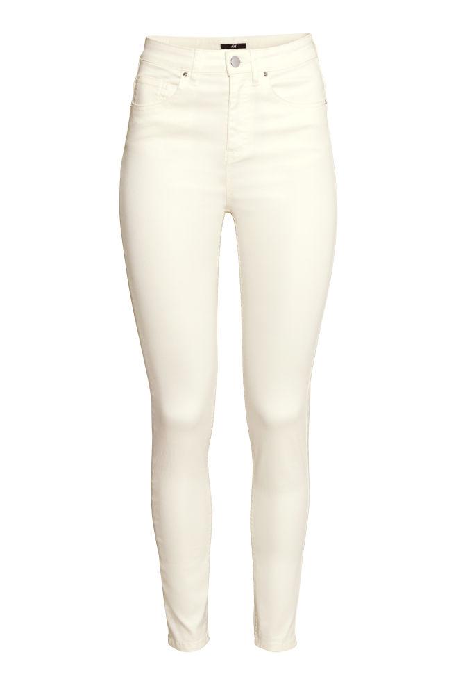 4646faf86d3 Kalhoty s vysokým pasem - Přírodní bílá - ŽENY