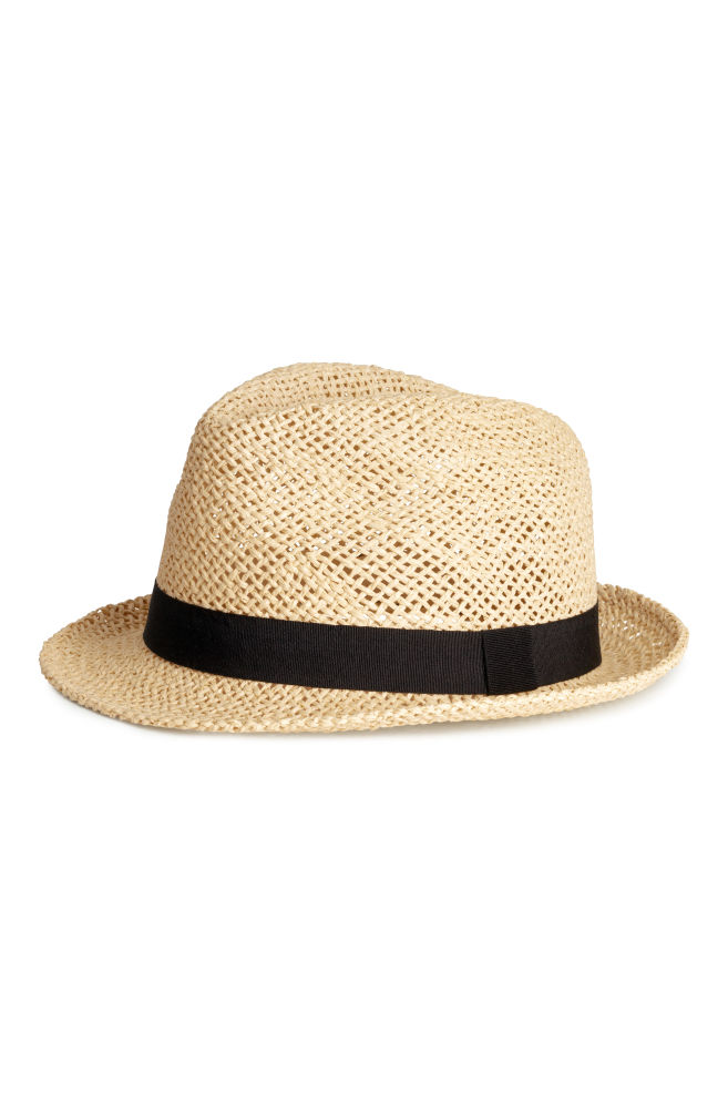 771227c52 Słomkowy kapelusz - Naturalny - | H&M ...