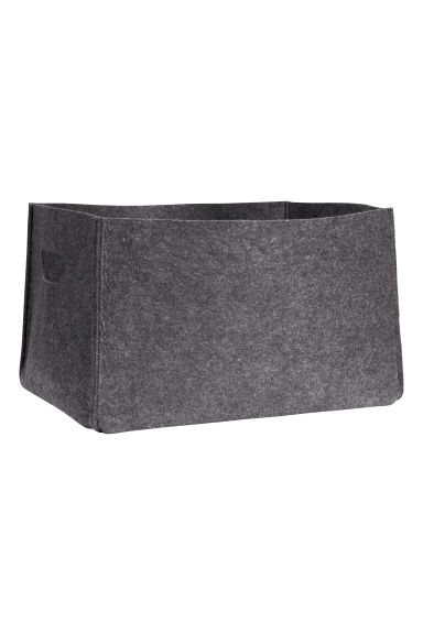 Felt storage basket - Dark grey - Home All | H&M GB