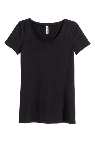 Jersey top - Black -  | H&M GB