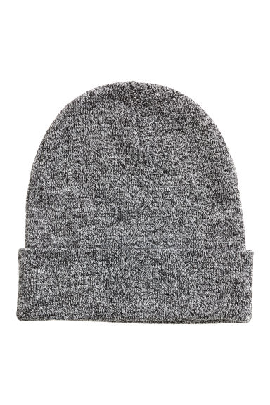 Knitted hat - Black marl - Men | H&M
