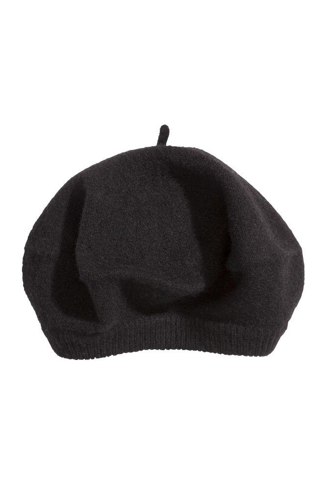 06a468e76d826 Wool-blend beret - Black - Ladies