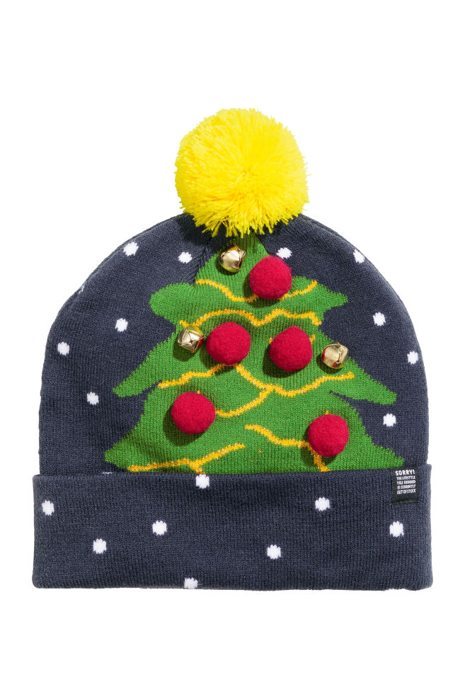 Berretto in maglia - Blu scuro albero di Natale - UOMO  50e62403c5a4
