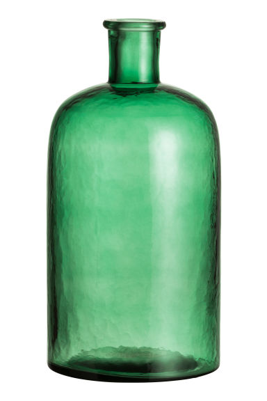 Large glass vase - Dark green - Home All | H&M GB