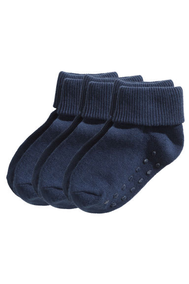 3-pack Socks - Dark blue - Kids | H&M US