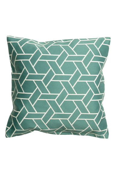 Jacquard-weave cushion cover - Dark turquoise - Home All | H&M GB