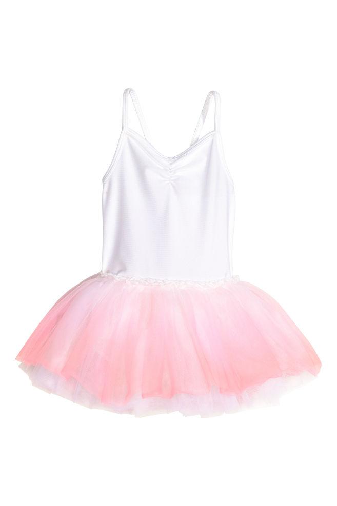 a1329c60d4 Fato de ballet - Branco Rosa claro - CRIANÇA