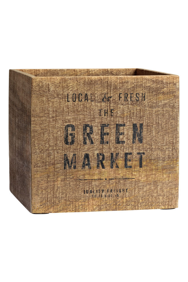5b4d3fb27e3 Stor trækasse - Brun - Home All | H&M DK