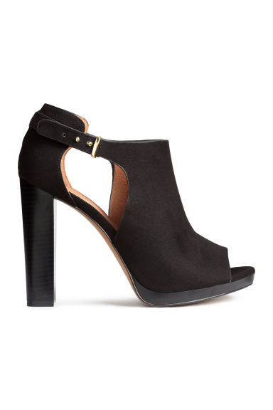 Peep-toe ankle boots - Black - Ladies | H&M GB