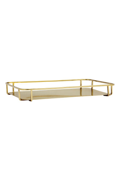 Metal tray - Gold - Home All | H&M GB