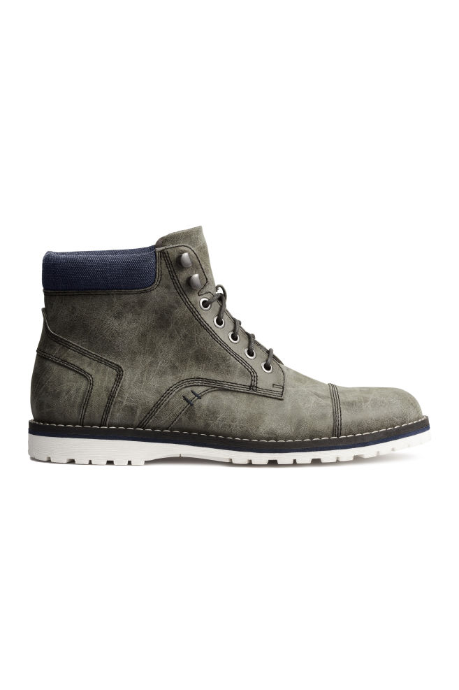 191fcd67bc457 Nízke čižmy - sivá - MUŽI | H&M ...