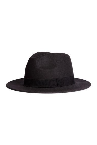Vlněný klobouk fedora - Černá - MUŽI  e1b63a8031
