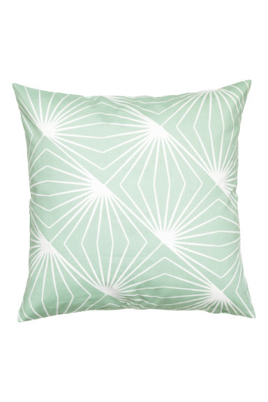 Patterned cushion cover - Mint green - Home All | H&M GB