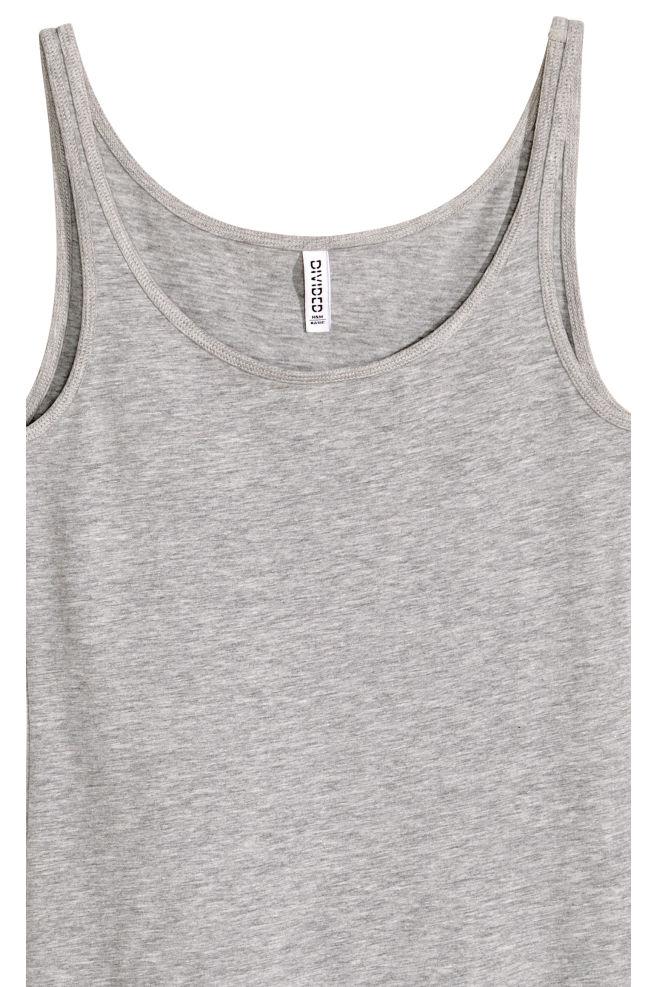5bfe9ba1dfeb3 ... Jersey vest top - Grey marl - Ladies