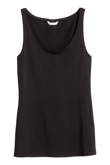 Jersey vest top - Black - Ladies | H&M GB