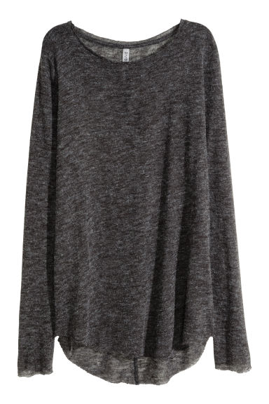 Fine-knit jumper - Dark grey -  | H&M