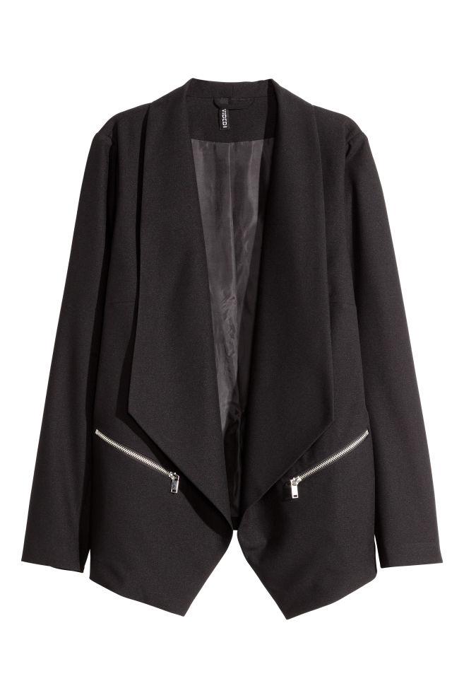 3ee3cd9d4419 Blazer avec col châle - Noir - FEMME   H M ...