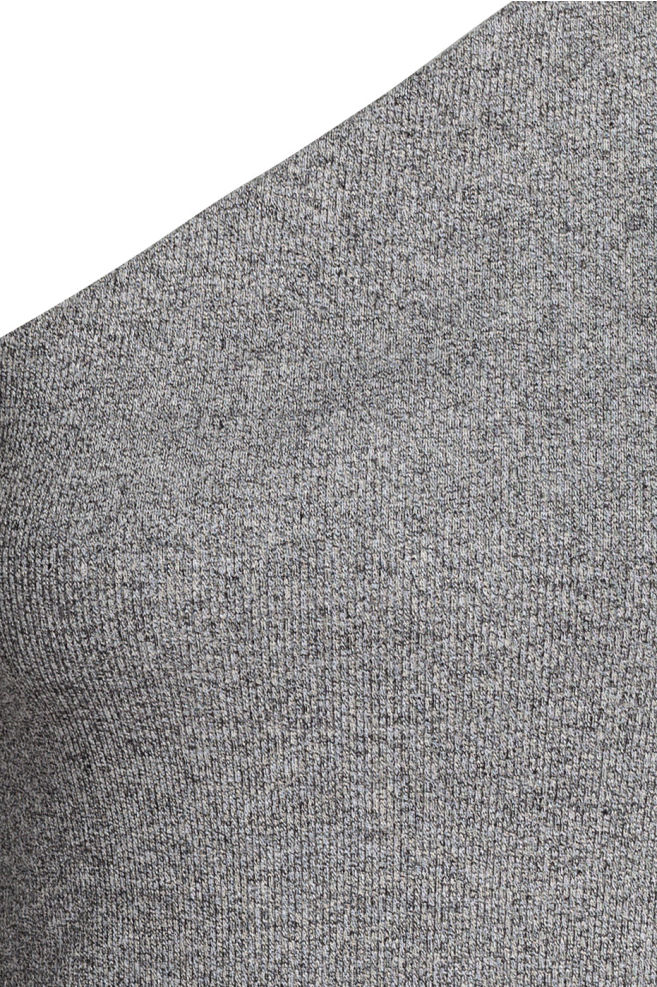 ad75c3056e1 ... One-shoulder top - Dark grey marl - Ladies | H&M ...