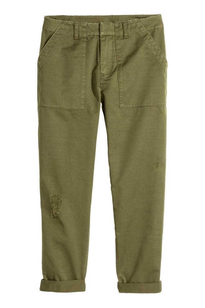 Cargohose - Khakigrün - DAMEN   H M ... 20191f5798