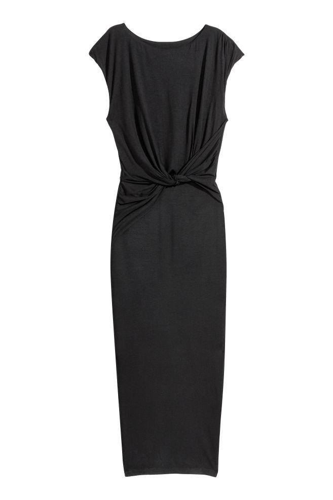f3cdd05e50 Hosszú átlapolós ruha - Fekete - NŐI | H&M ...
