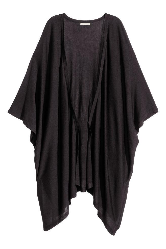 fcc258fb7 Fine-knit poncho - Black - Ladies   H&M ...