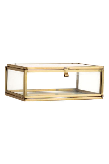 Clear glass box - Gold-coloured - Home All | H&M CN