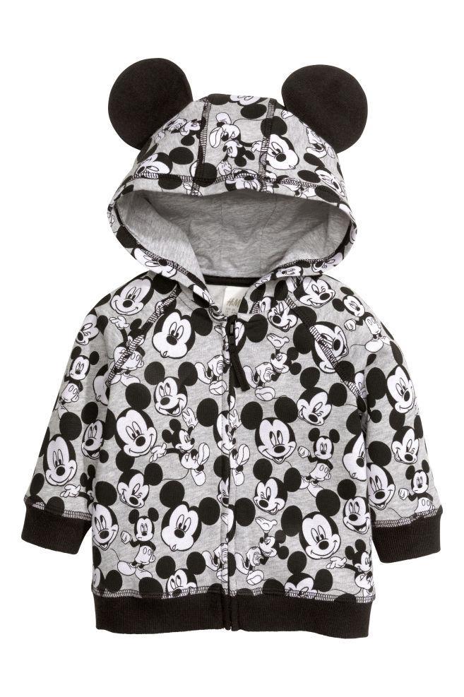0010d4e4 Толстовка с рисунком - Серый/Микки Маус - Дети | H&M ...