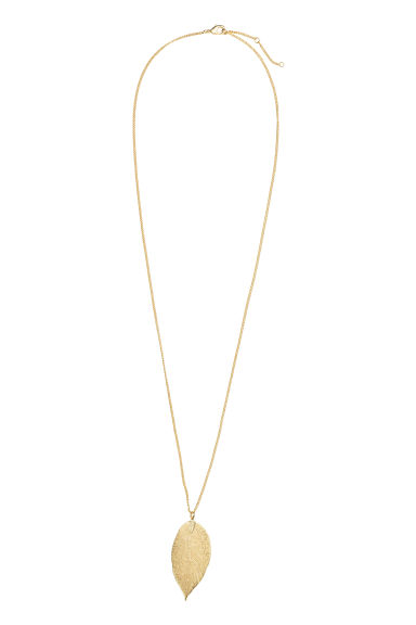 Leaf pendant necklace - Gold - Ladies | H&M
