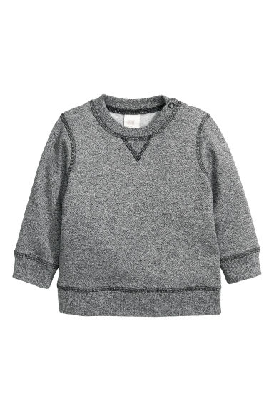 Sweatshirt - Black marl - Kids | H&M CN