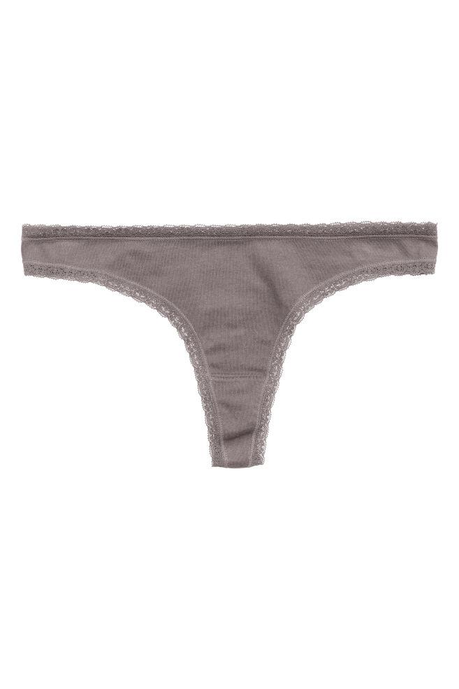 4fa23f21725027 Bawełniane stringi 5-pak - Niebieski - ONA | H&M ...