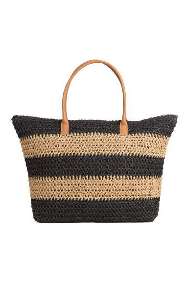 Shopper - Black/Striped -  | H&M GB