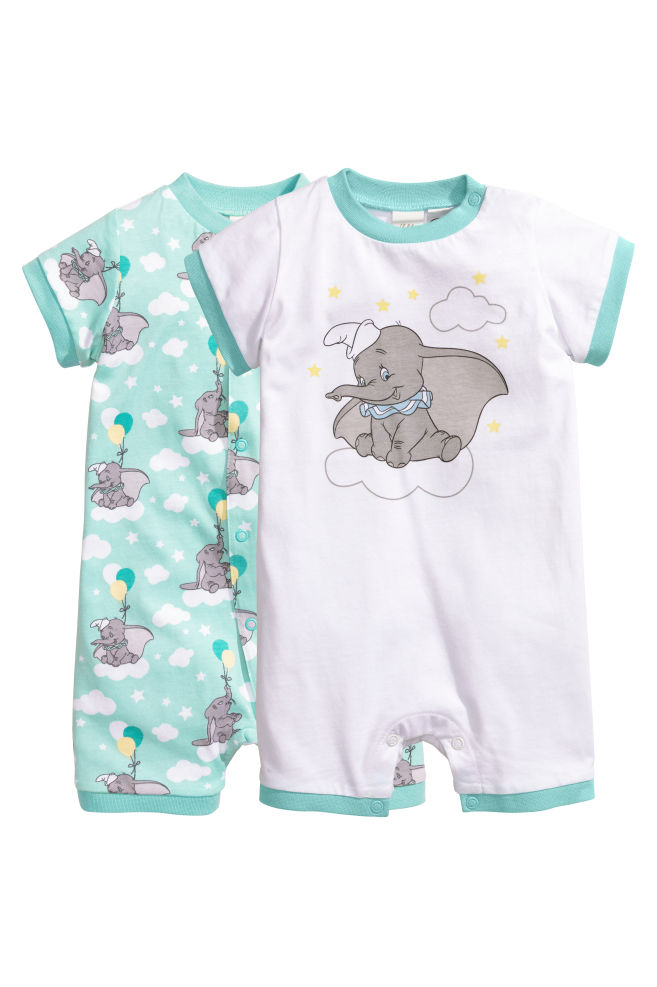d2f266c1a 2-pack all-in-one pyjamas - White/Dumbo - Kids | H&M GB