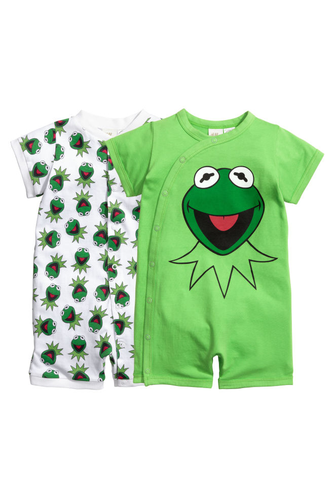 219e89cc9 2-pack all-in-one pyjamas - Green/The Muppets - Kids | H&M GB