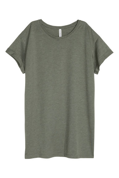 Long T-shirt - Khaki green - Ladies | H&M