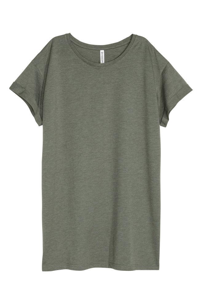 a437892a0ae0 Dlhé tričko - kaki - ŽENY