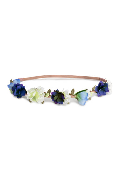 Hairband with flowers - Blue - Ladies | H&M CN