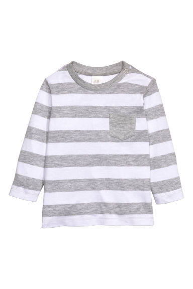 Jersey top - Grey/Striped - Kids | H&M