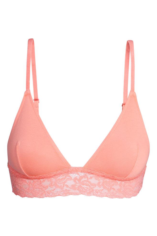 95e01b5373 ... 2 db-os pamut melltartó szett - Barackszínű/fehér - NŐI | H&M ...